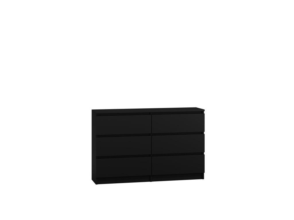 Komoda PUNA P6 120, černá