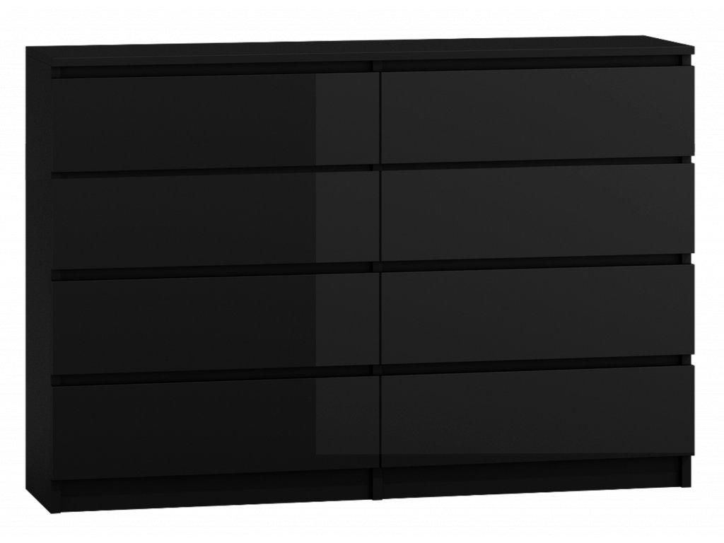 Komoda PUNA P8 140, černá