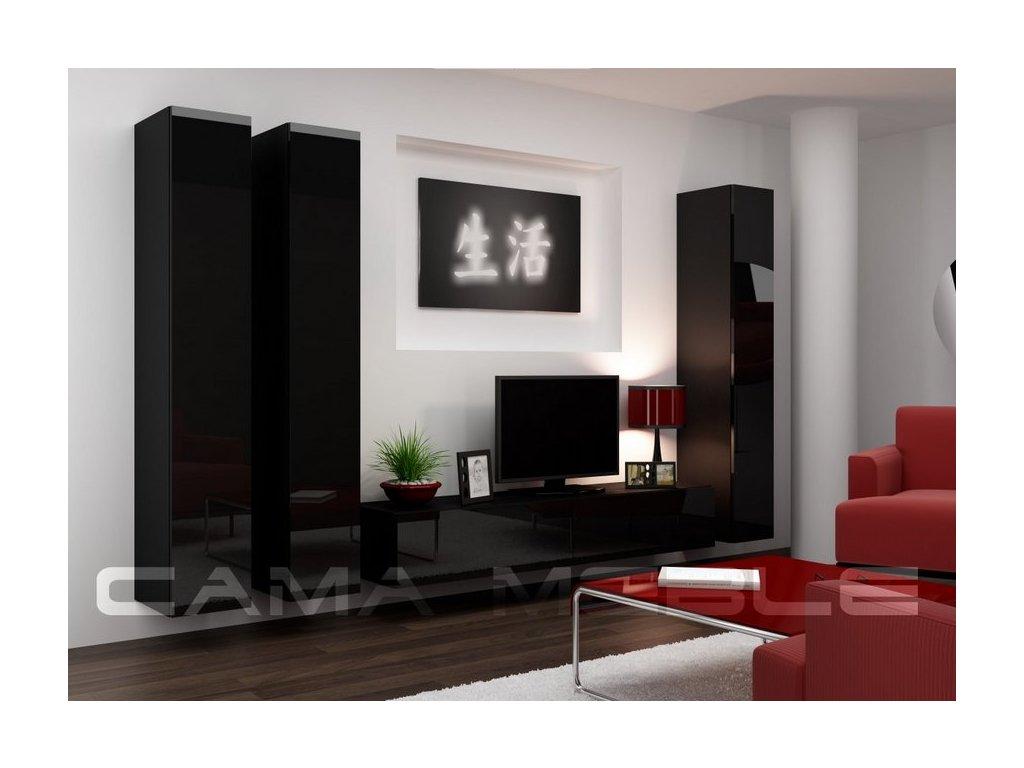 Obývací stěna CAMA VIGO 1, černá