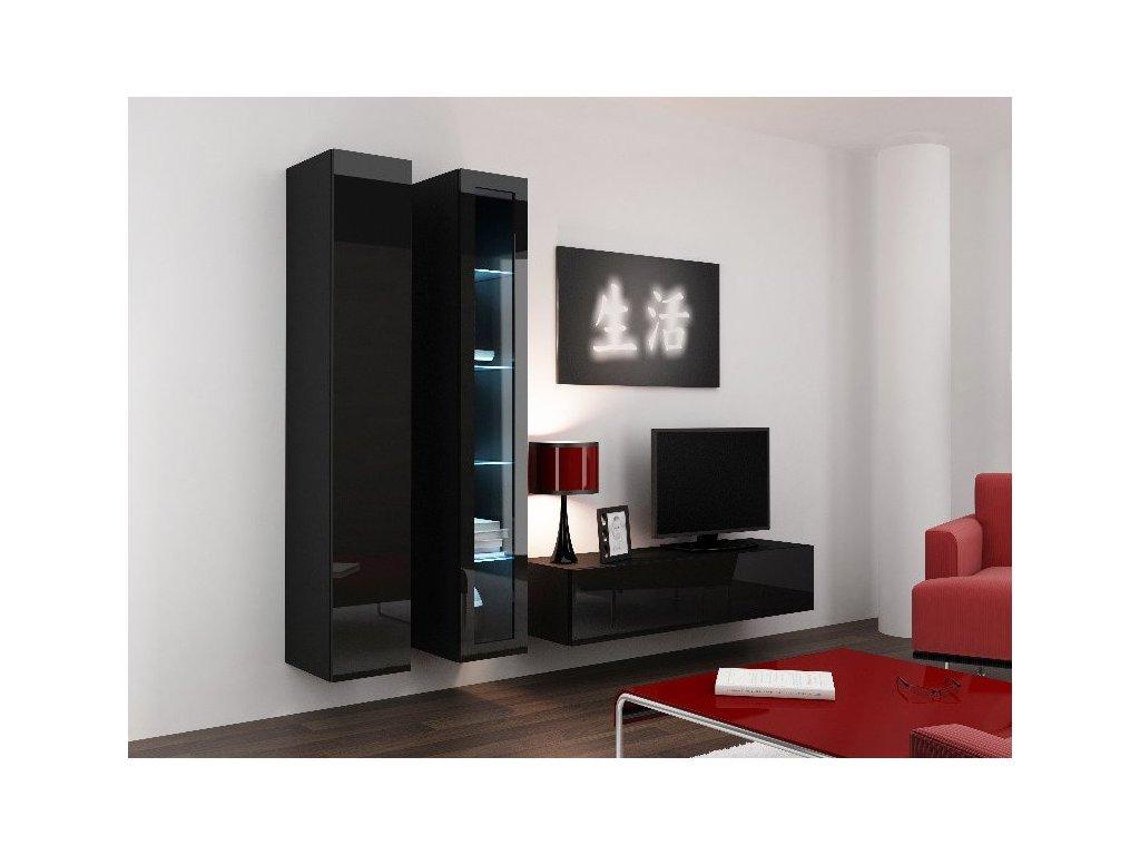 Obývací stěna CAMA VIGO 10, černá