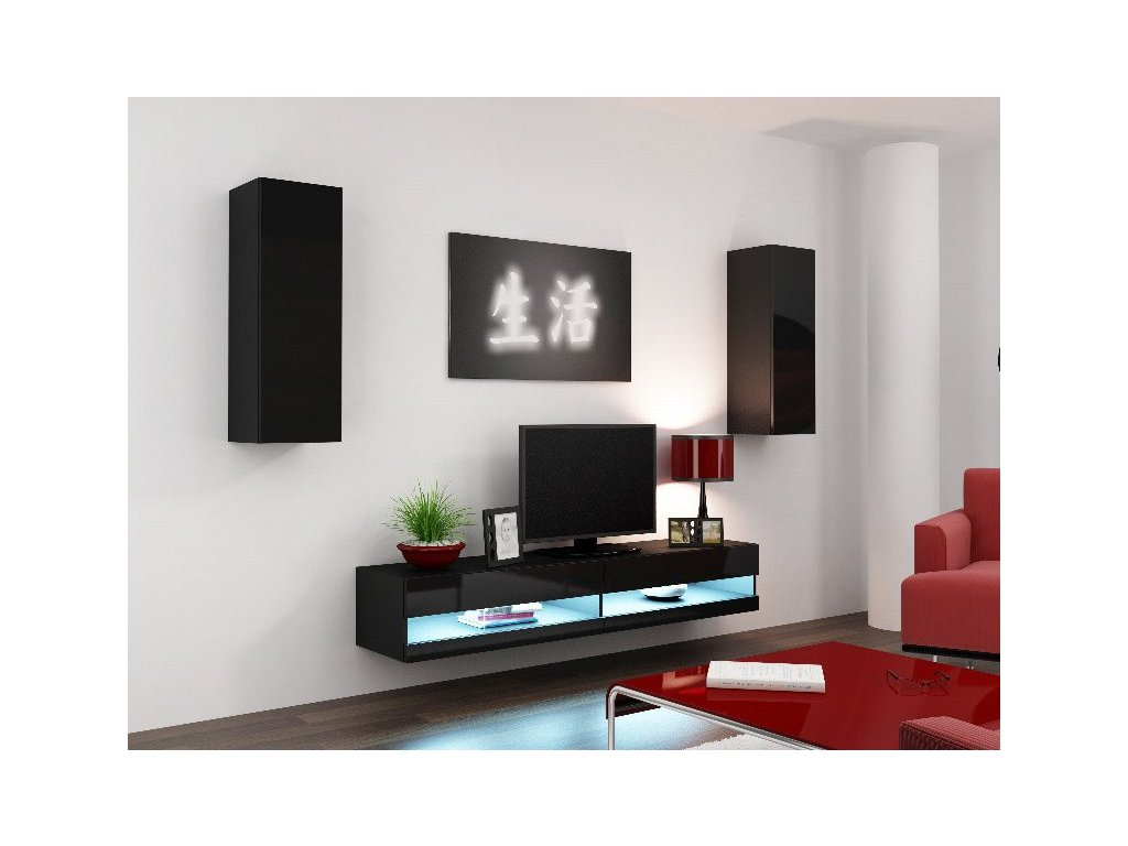 Obývací stěna CAMA VIGO NEW 10, černá