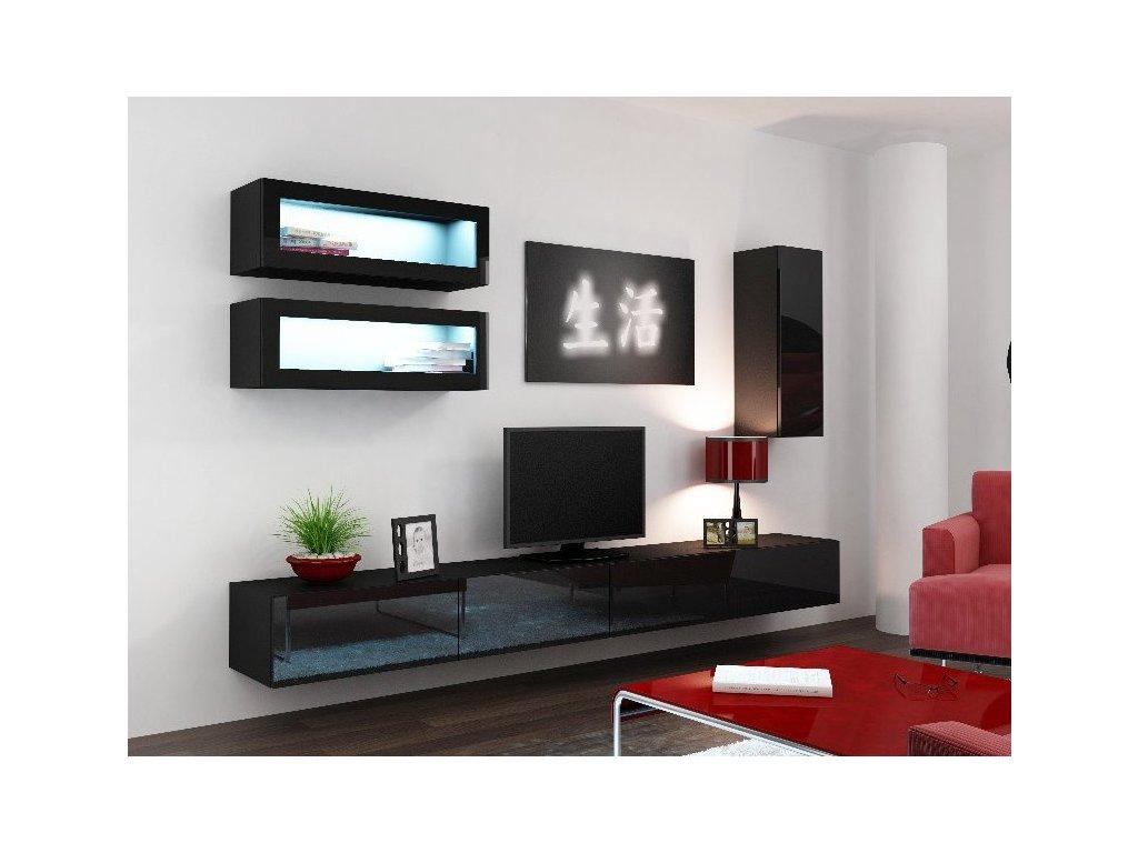 Obývací stěna CAMA VIGO 11, černá
