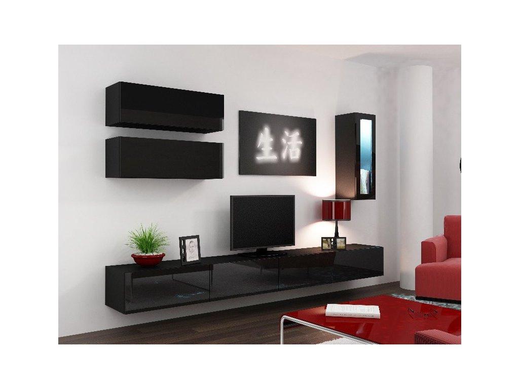 Obývací stěna VIGO 12, černá