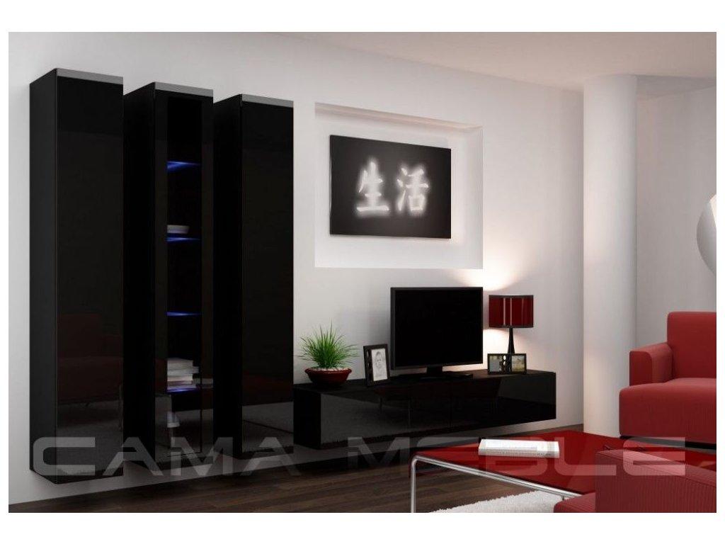 Obývací stěna VIGO 2, černá