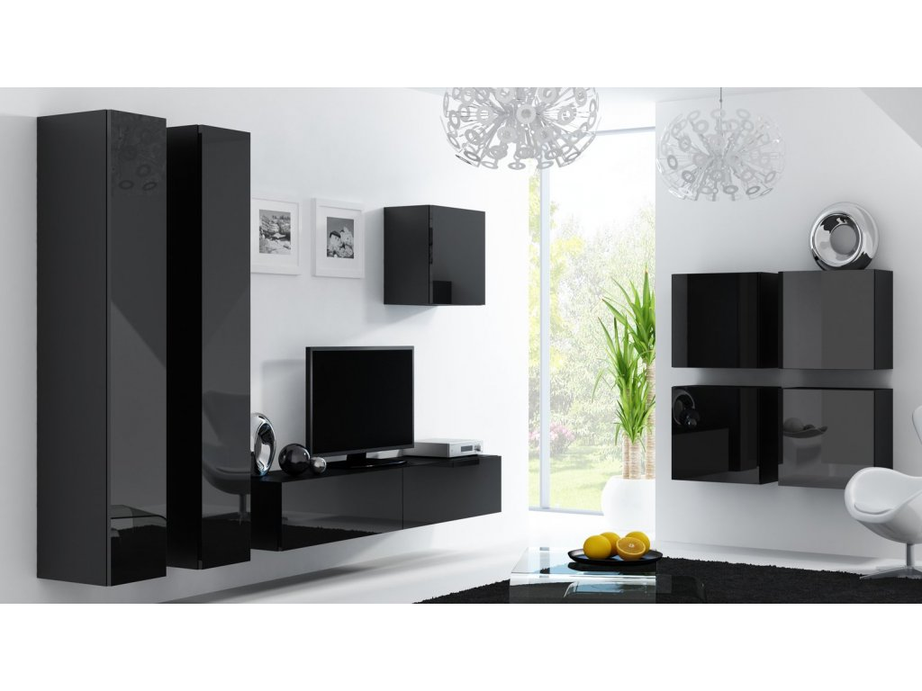 Obývací stěna VIGO 24, černá