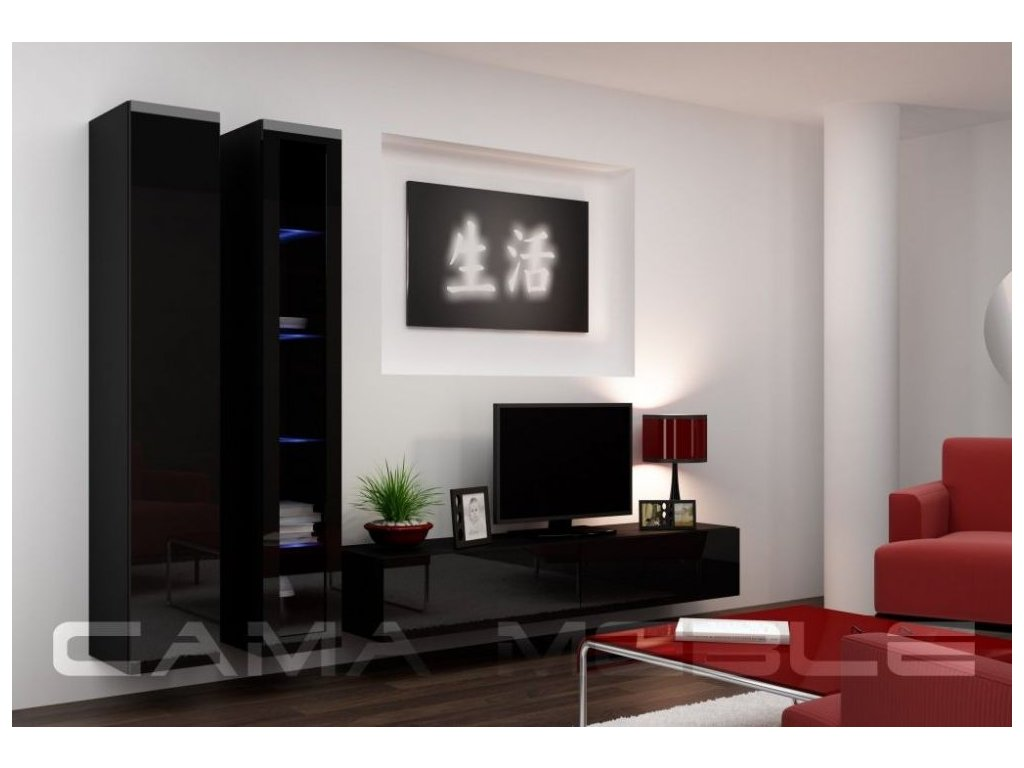 Obývací stěna VIGO 3, černá