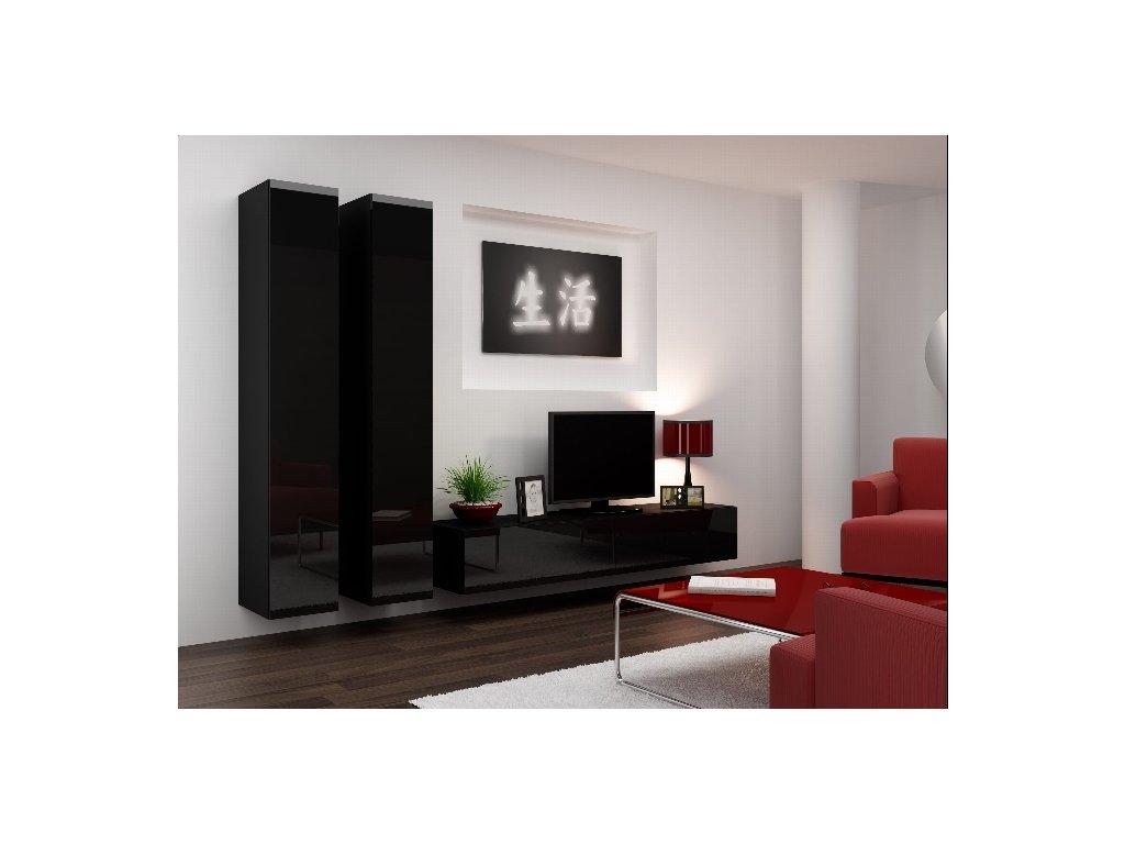 Obývací stěna VIGO 4 černá