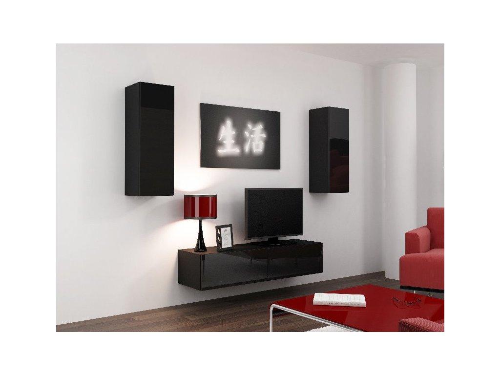Obývací stěna VIGO 7, černá