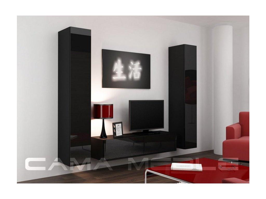 Obývací stěna VIGO 9, černá