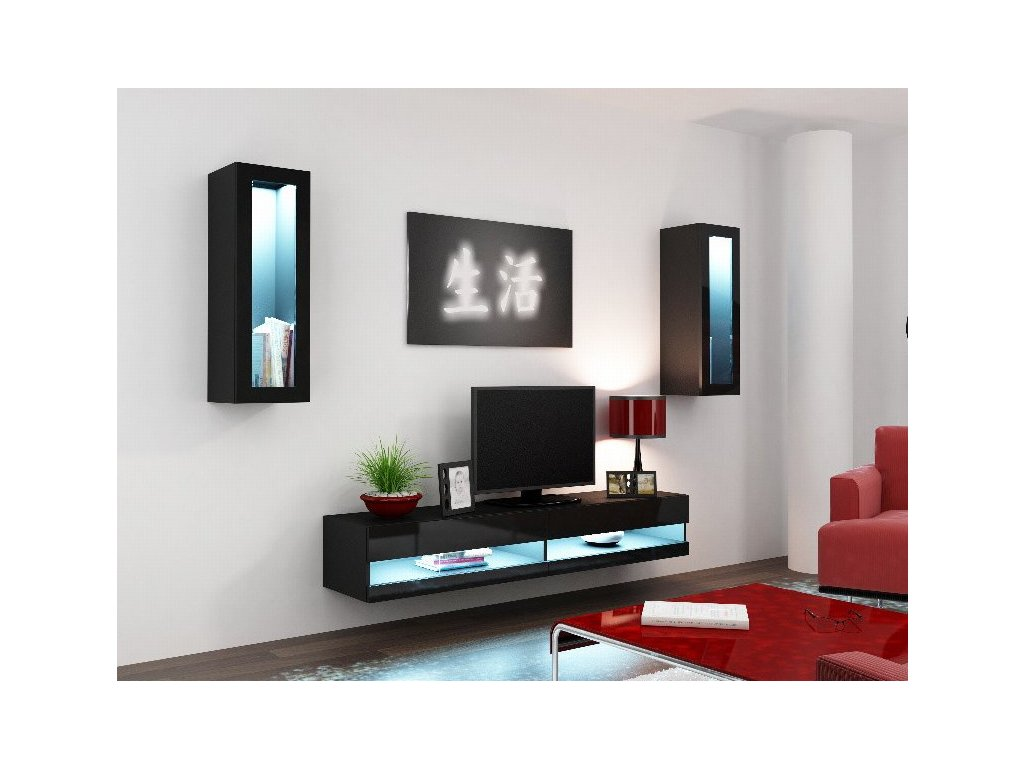Obývací stěna VIGO NEW 11, černá