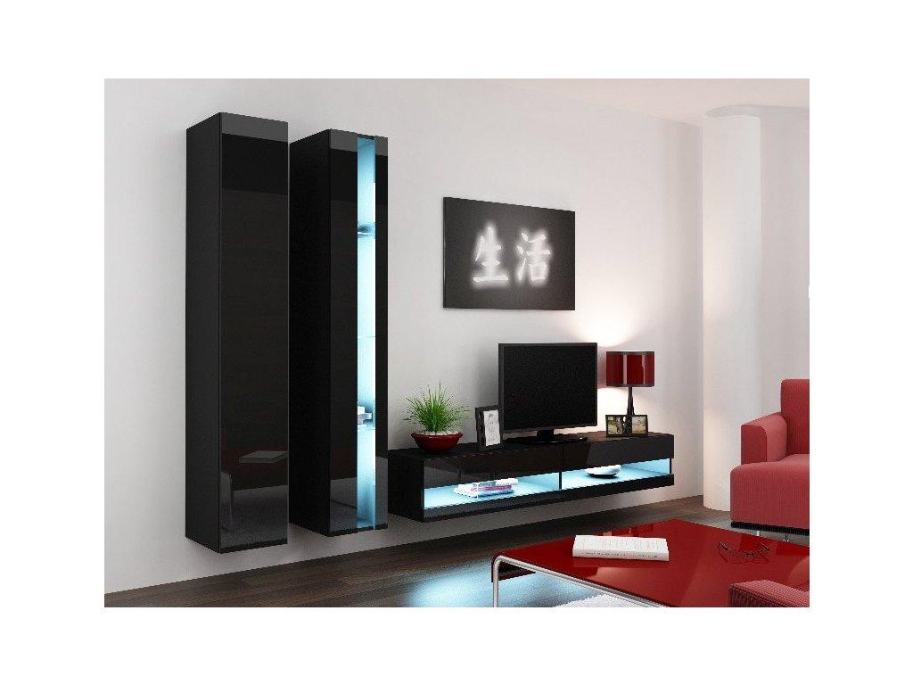 Obývací stěna VIGO NEW 5, černá