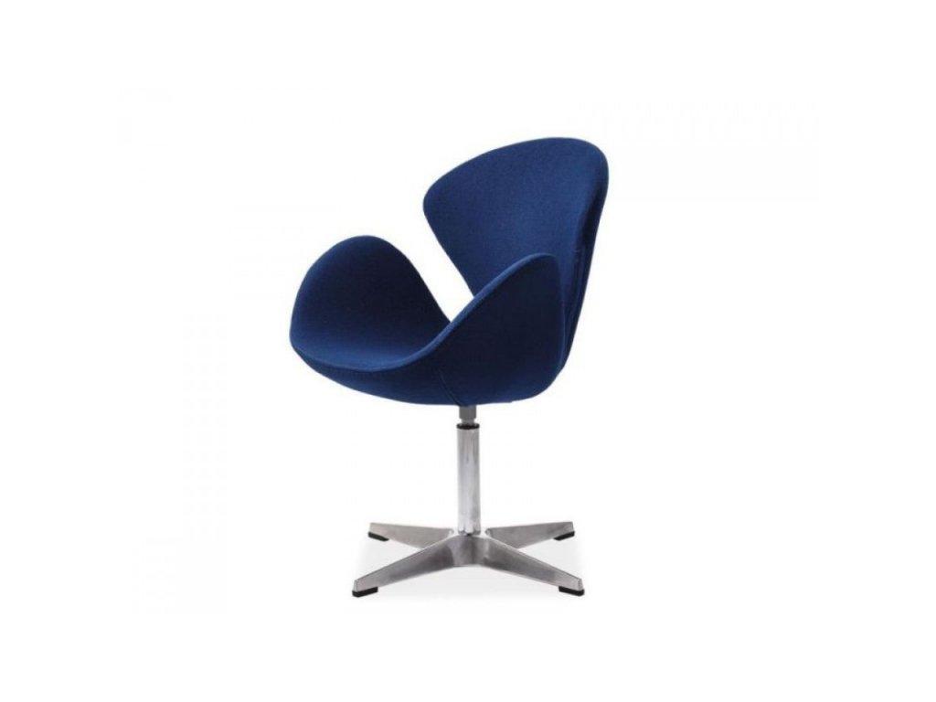 Relaxační čalouněné křeslo DEVON - modré