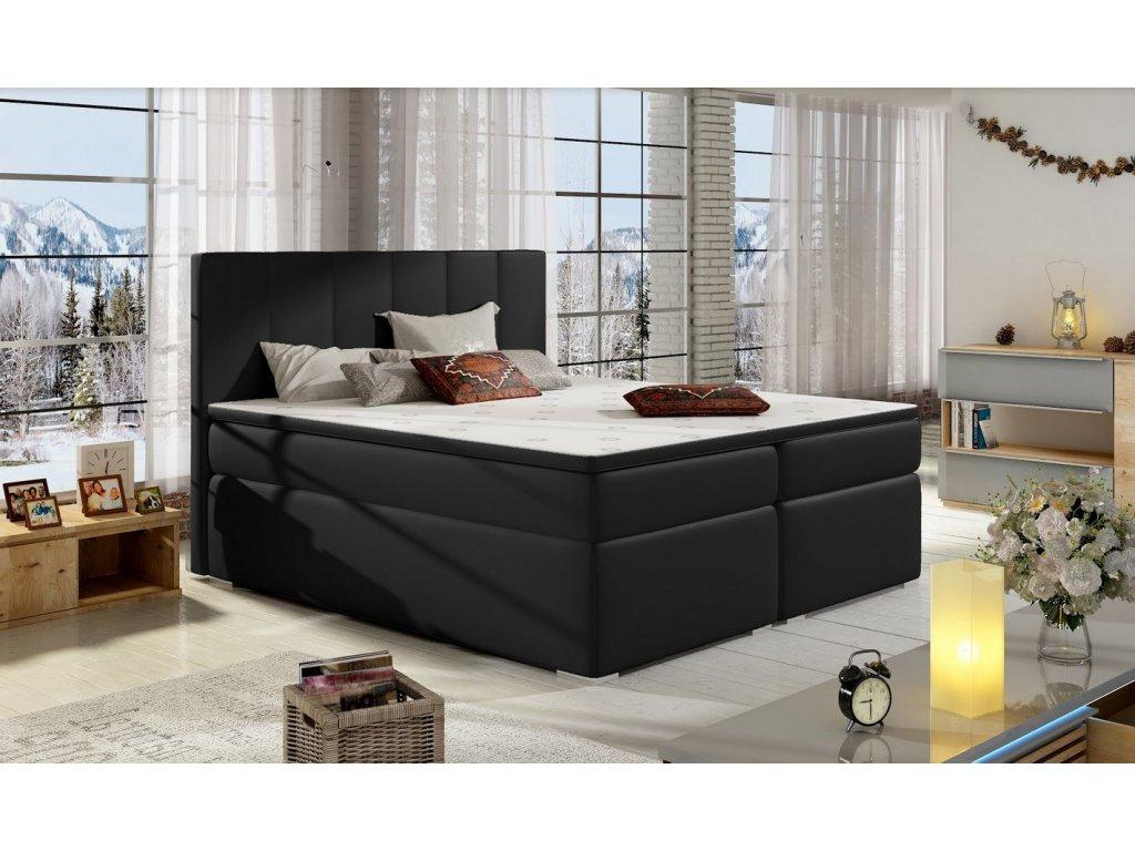 Manželská postel BOLERO BOXSPRINGS 160 x 200 (ekokůže soft 011)