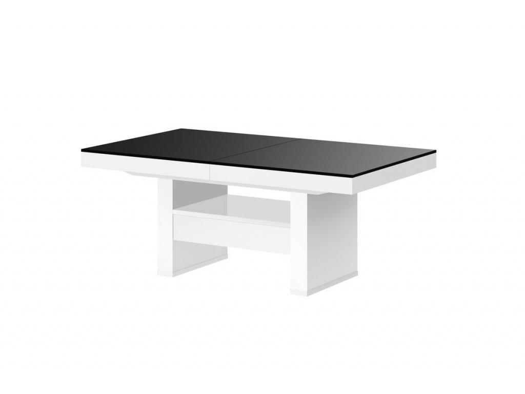 Nastavitelný konferenční stolek AVERSA LUX, černo bílý