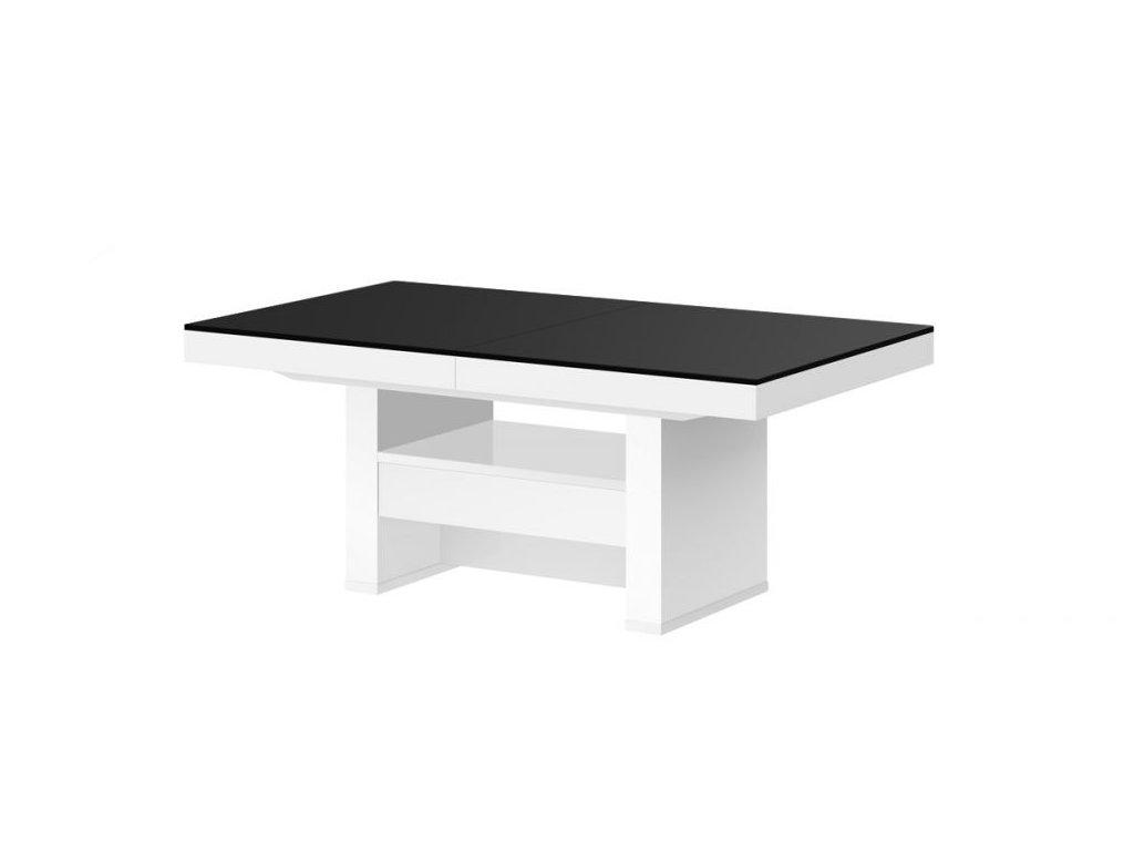 Konferenční stolek AVERSA LUX MAT, černo/bílý