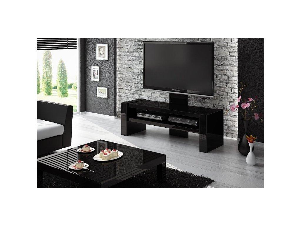 Televizní stolek DAVOS, černý