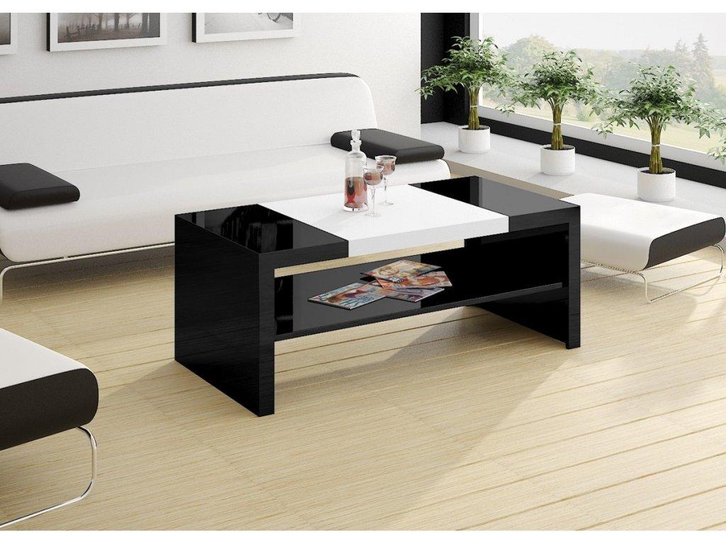 Konferenční stolek DUO (černobílý)