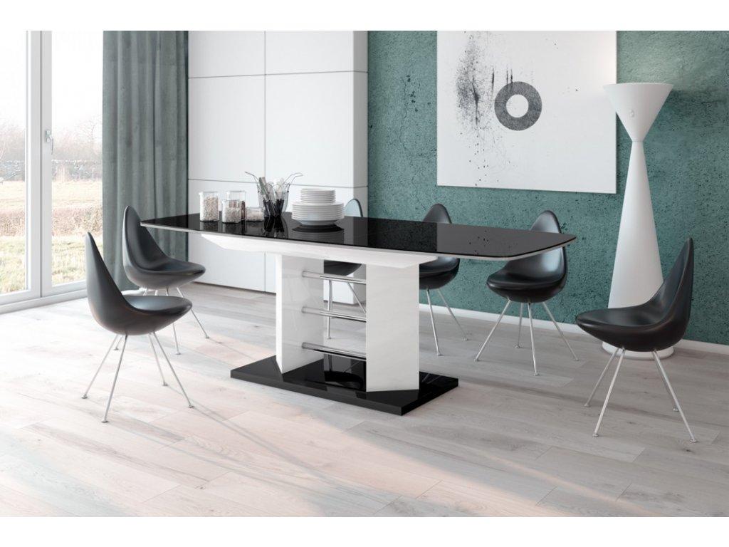 Jídelní stůl LINOSA 3, černo/bílá