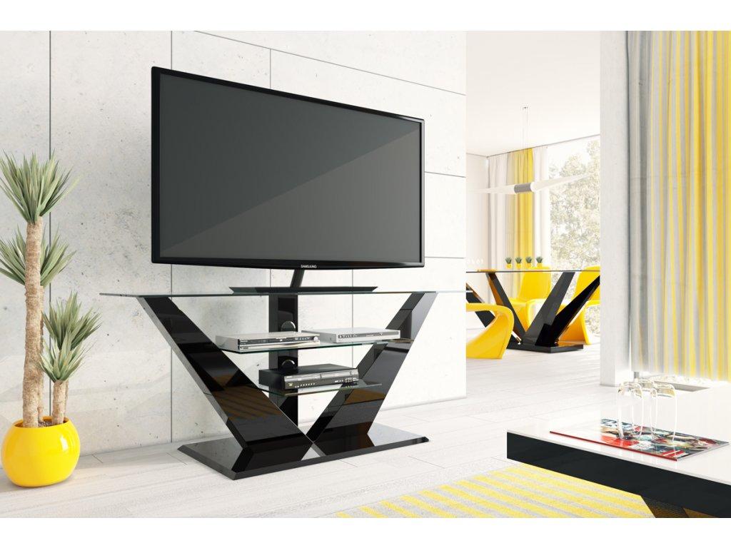 Televizní stolek LUNA (černý)