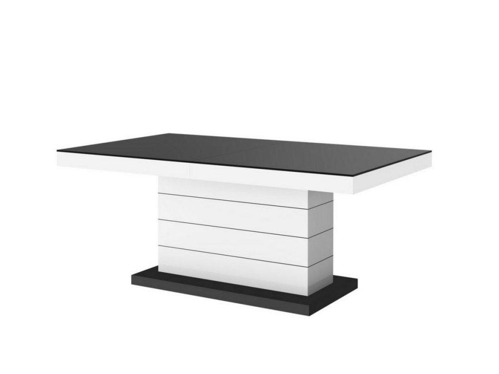 Konferenční stolek MATERA LUX MAT, černo/bílý