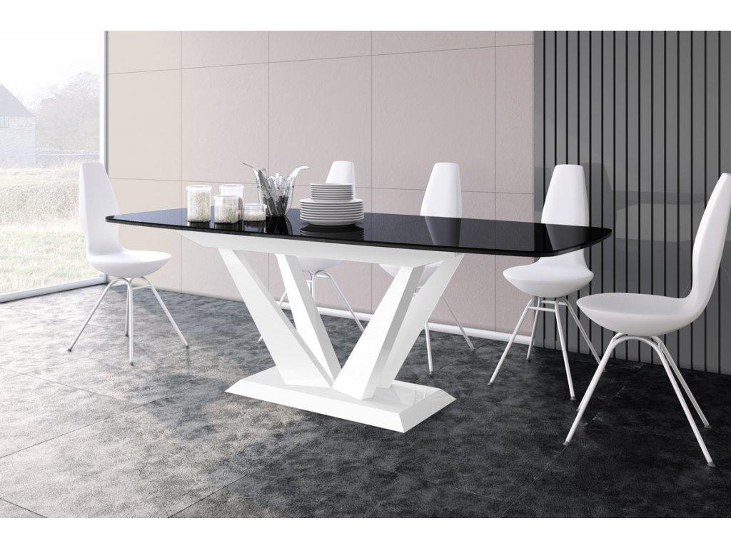 Jídelní stůl PERFETO (černo-bílá)