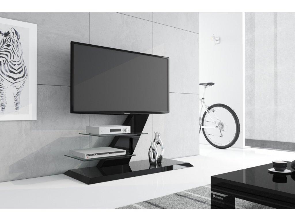 Televizní stolek VENTO (černý)