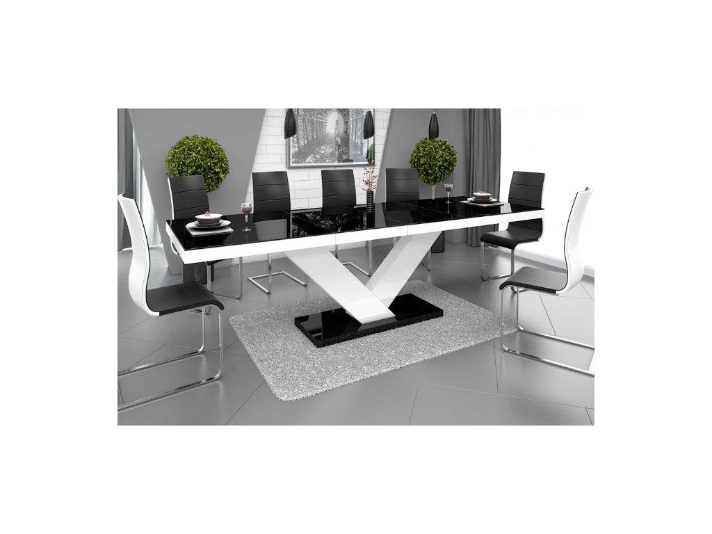 Jídelní stůl VICTORIA, černo/bílý
