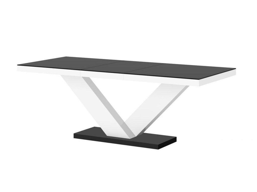 Jídelní stůl VICTORIA MAT, černo/bílý