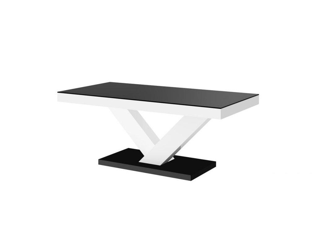Konferenční stolek VICTORIA MINI MAT, černo/bílý
