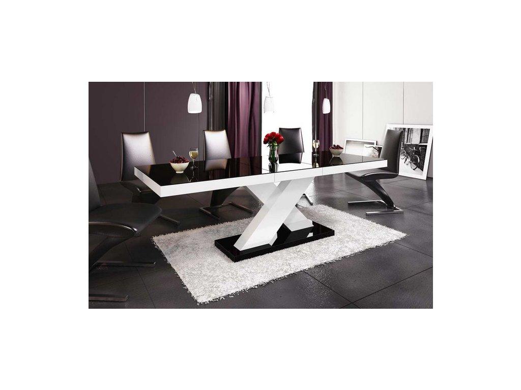 Jídelní stůl XENON, černo/bílý