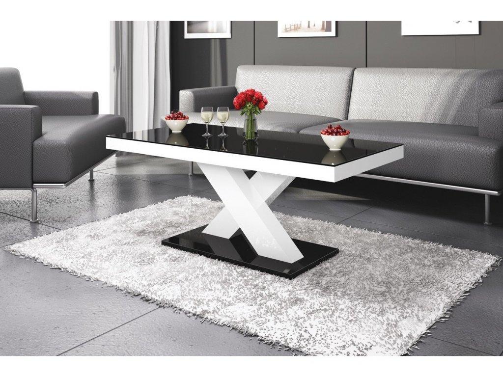 Konferenční stolek XENON MINI, černo/bílý