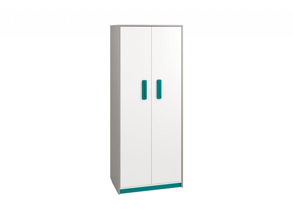 Šatní skříň IQ 02, modro/zelená SKLADEM 1 KS