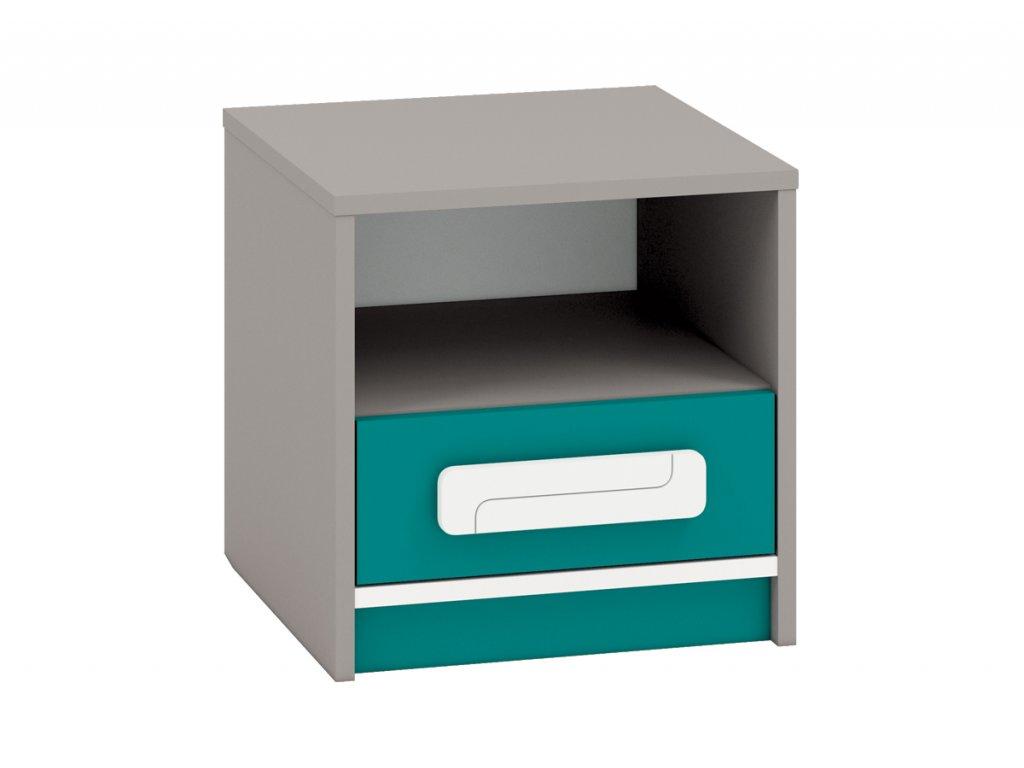 Noční stolek IQ 13, modro/zelený