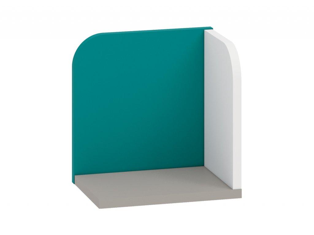 Rohová polička IQ 16, modro/zelená SKLADEM 1 KS