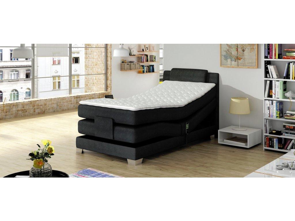 Luxusní elektronicky polohovatelná postel WAVE 100 x 200 cm