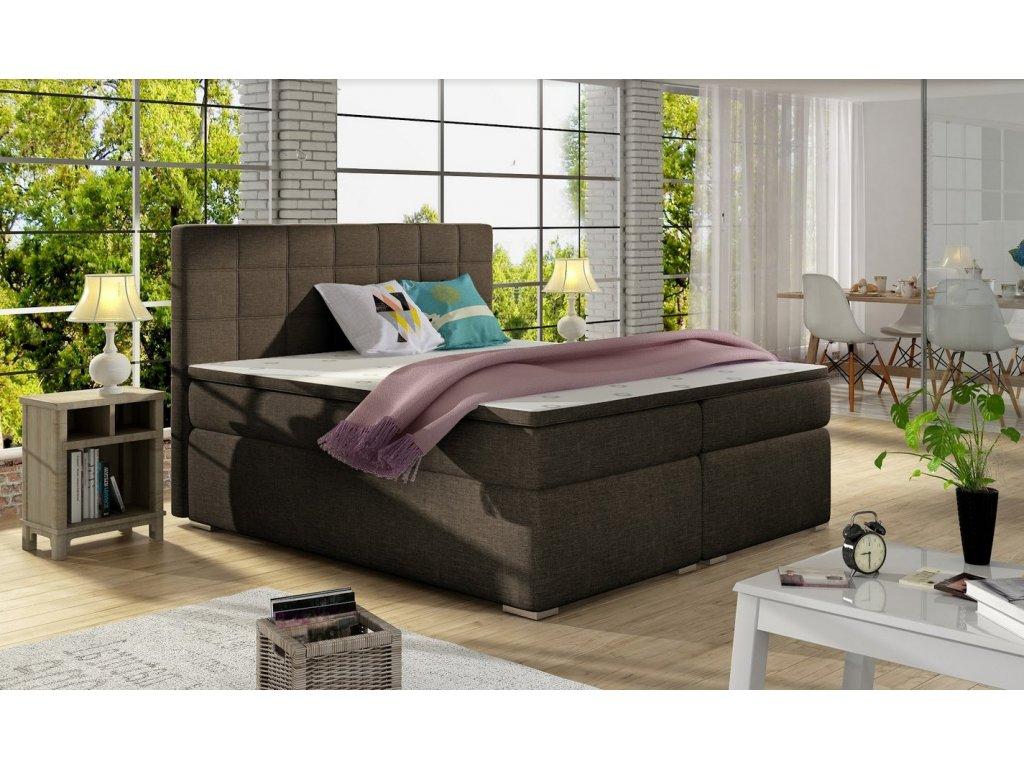 Manželská postel AMANDA BOXSPRINGS 180x200 (sawana 26)