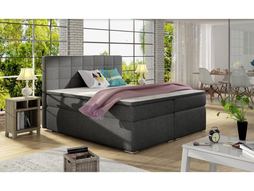 Manželská postel AMANDA BOXSPRINGS 160x200 (sawana 05)