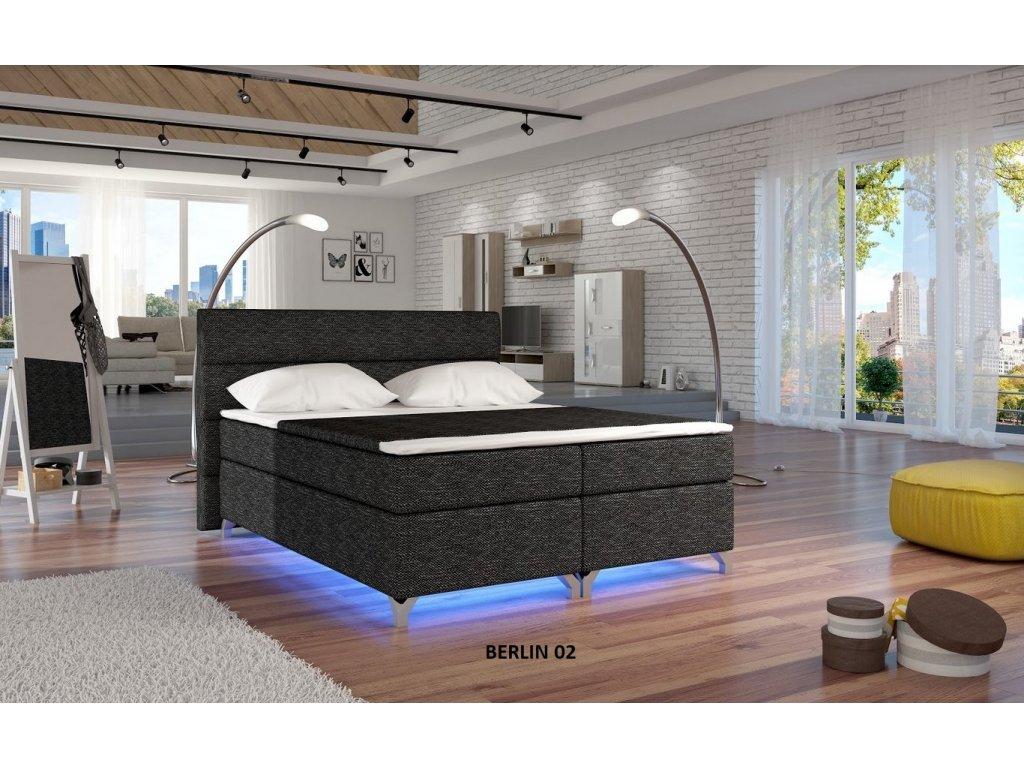 Manželská postel ALEX BOXSPRINGS 160x200 (Berlin 02)