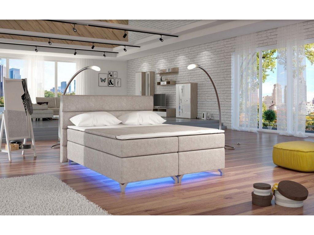 Manželská postel ALEX BOXSPRINGS 160x200 (Dora 21)