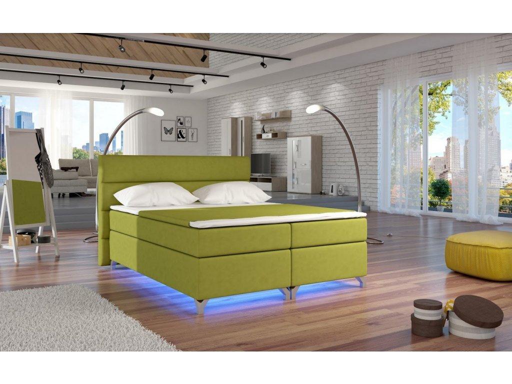 Manželská postel ALEX BOXSPRINGS 180x200 (Jasmine 35)