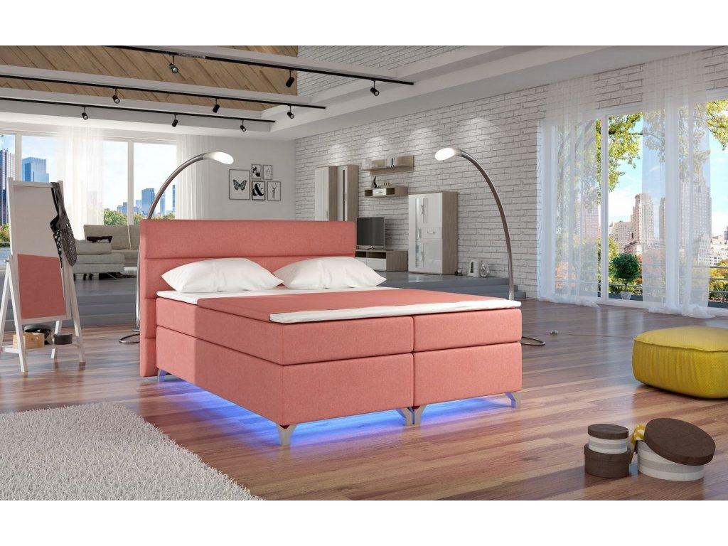Manželská postel ALEX BOXSPRINGS 160x200 (Ontario 75)