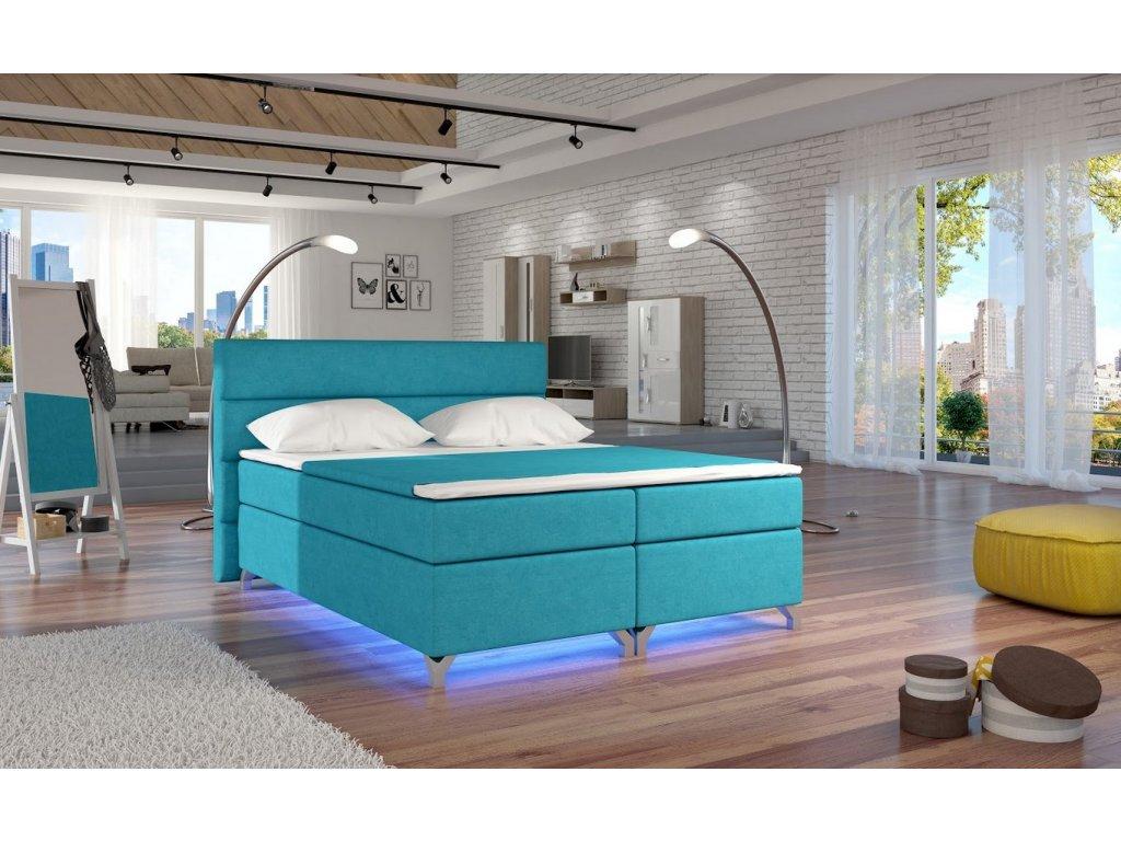 Manželská postel ALEX BOXSPRINGS 160x200 (Orinoco 85)