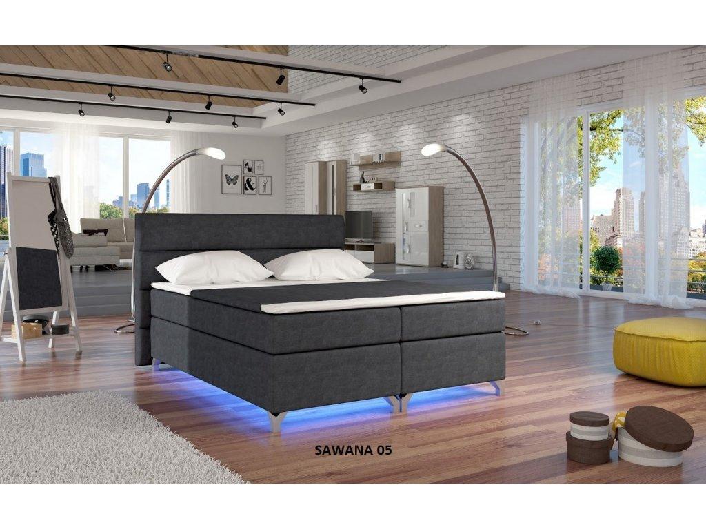 Manželská postel ALEX BOXSPRINGS 180x200 (Sawana 05)