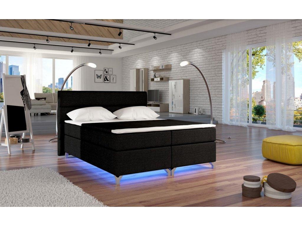 Manželská postel ALEX BOXSPRINGS 160x200 (Sawana 14)