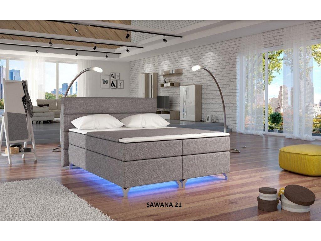 Manželská postel ALEX BOXSPRINGS 180x200 (Sawana 21)