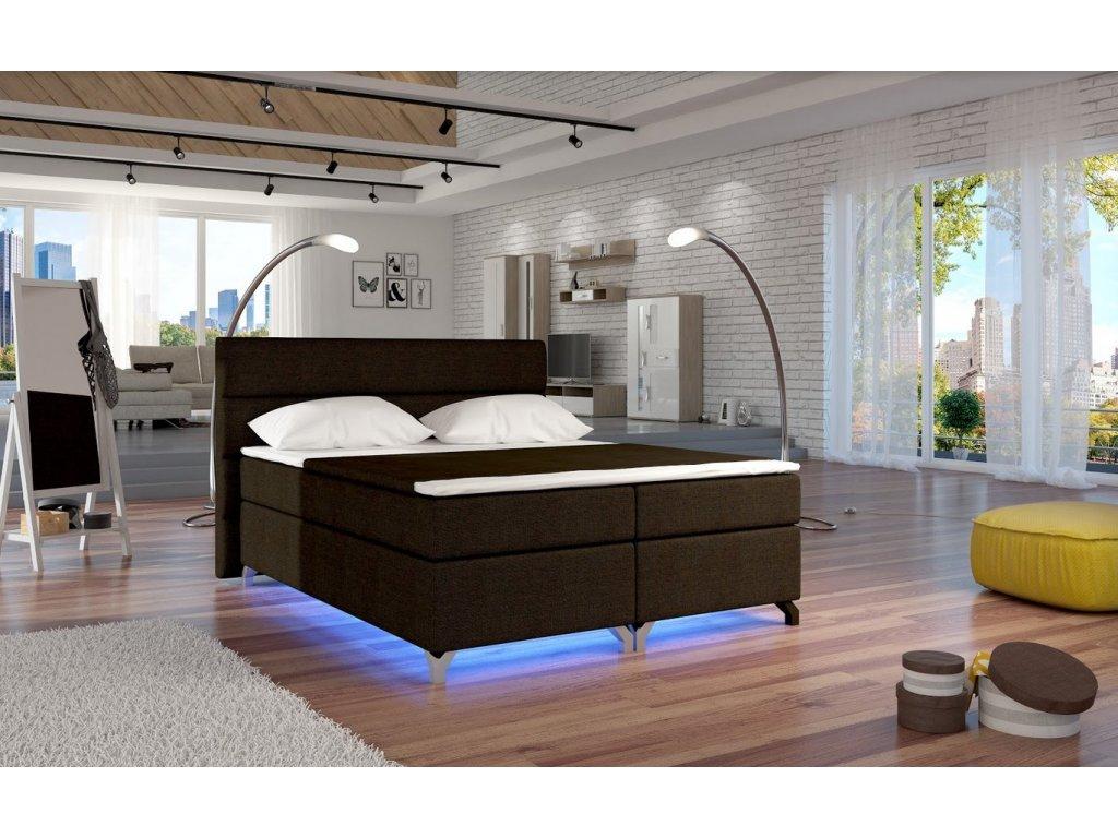 Manželská postel ALEX BOXSPRINGS 160x200 (Sawana 26)