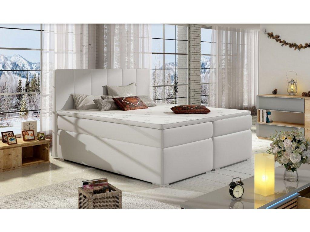 Manželská postel BOLERO BOXSPRINGS 180 x 200 cm (ekokůže soft 017) SKLADEM 1ks