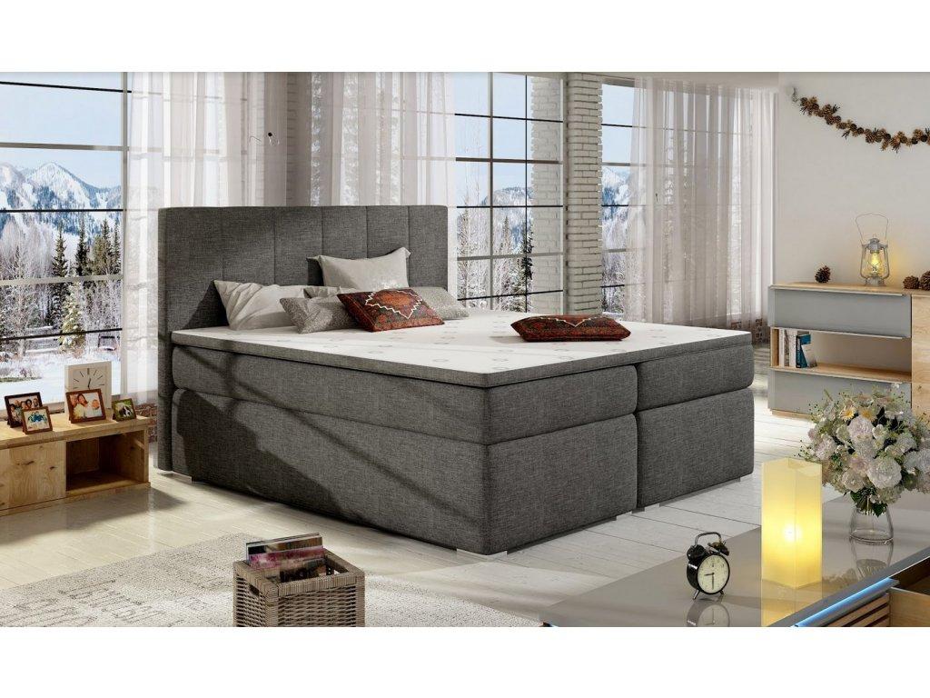 Manželská postel BOLERO BOXSPRINGS 180 x 200 cm (sawana 05)