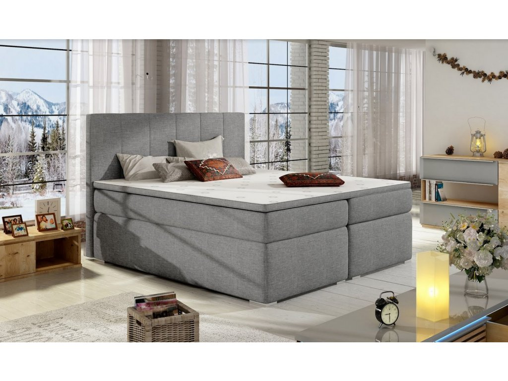Manželská postel BOLERO BOXSPRINGS 160 x 200 cm (sawana 21)