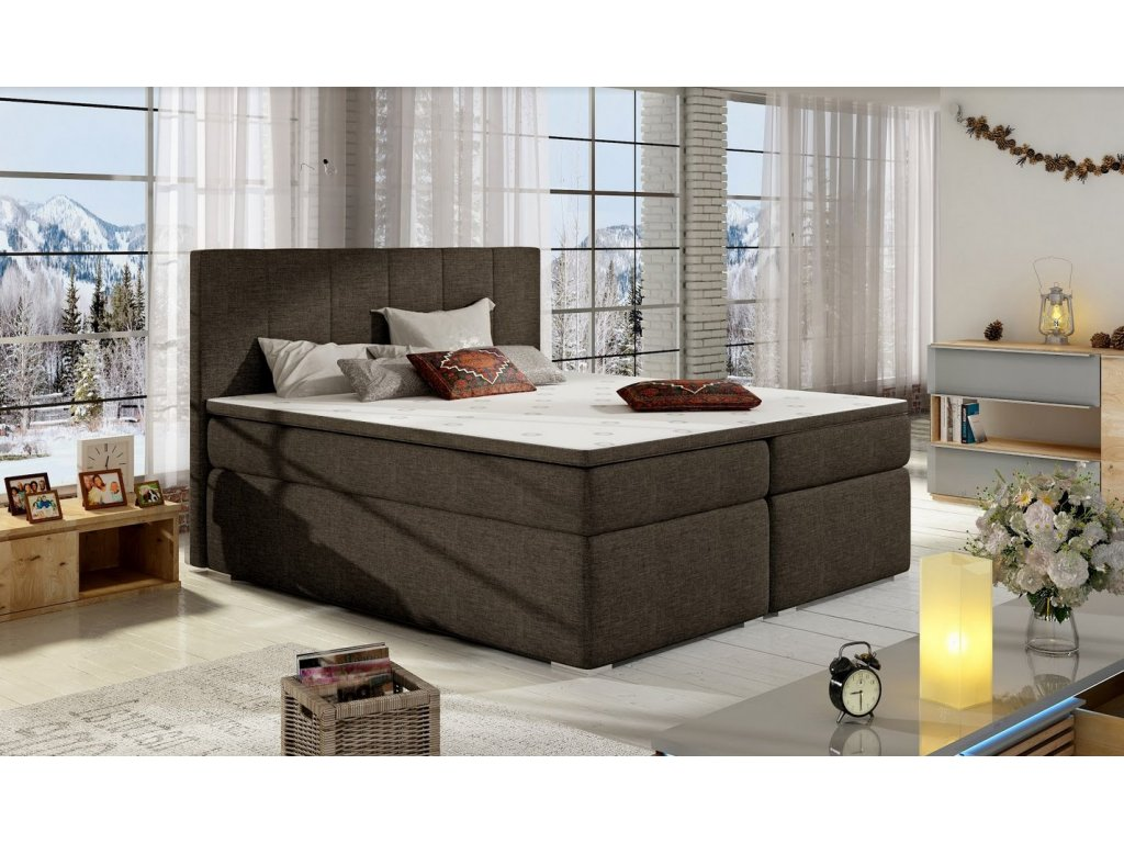 Manželská postel BOLERO BOXSPRINGS 180 x 200 cm (sawana 26)